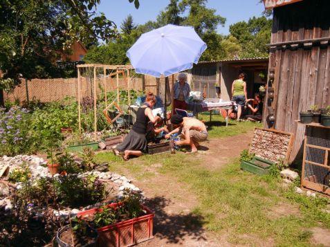 Der vertical farming-Workshop am 16.06.2012.