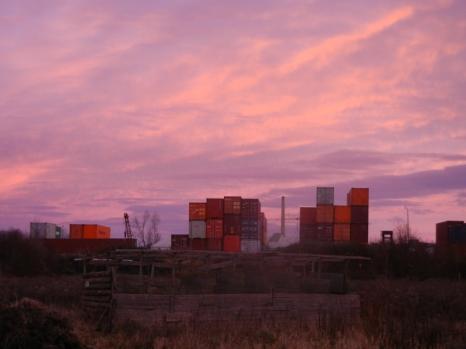 Hamburger Hafenstimmung auf der neuen Farm.