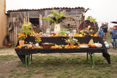 Erntedank-Tisch